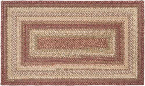 5' x 8' Countryside Chic Salmon Red Reversible Braided Area Throw Rug