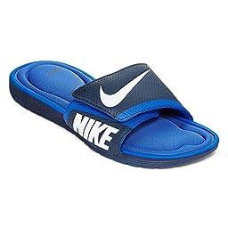 Nike Men\'s Solarsoft Comfort Slide Midnight Navy/White/Game Royal Sandal 8 Men US