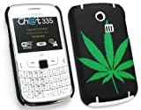 FLASH SUPERSTORE LCD SCREEN PROTECTOR AND GREEN LEAF CLIP ON PROTECTION CASE/COVER/SKIN FOR SAMSUNG CHAT CH@T 335 ( S3350 )