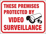 PROTECTED BY VIDEO SURVE (Pack of 10)