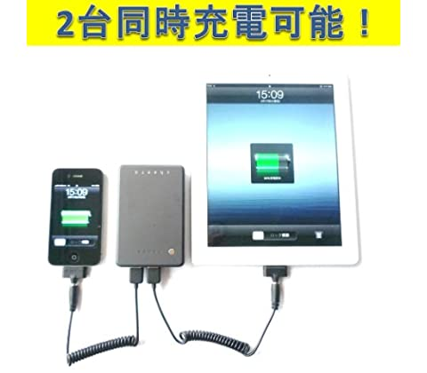 cheero Power Plus ������ 10000mAh ��Х���Хåƥ꡼ iPhone4S / iPhone 4 / iPhone3GS / ��iPad / iPad2 / iPad / iPod / ���ޡ��ȥե��� �б� ���ӥХåƥ꡼ ����2.1A��1A��USB��2��2��Ʊ�����Ų�ǽ ��Ⱦǯ�ݾڡ� ���ܸ�谷�������դ� cheero�ݡ����դ�(��ָ���)