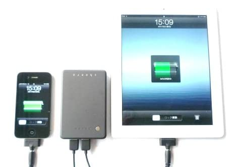 cheero Power Plus 大容量 10000mAh モバイルバッテリー iPhone4S / iPhone 4 / iPhone3GS / 新iPad / iPad2 / iPad / iPod / スマートフォン 対応 携帯バッテリー 出力2.1Aと1AのUSB×2で2台同時充電可能 ★1年保証★ 日本語取扱説明書付き