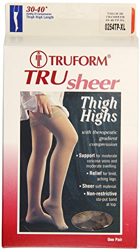 Truform Firm Compression Stocking, Taupe, Extra Large, 30-40 Mmhg, 0.25 Pound