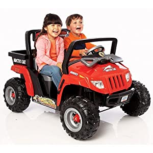 Amazon.com: Power Wheels Fisher-Price Red Arctic Cat Ride On: Toys
