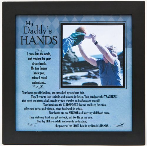 "Grandparent Gifts My Daddy's Hands black wall/table frame Space for photo 8""x8"""