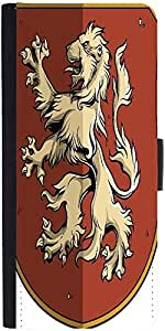 Snoogg Crests Vector Element Designer Protective Phone Flip Case Cover For Apple Iphone 6S