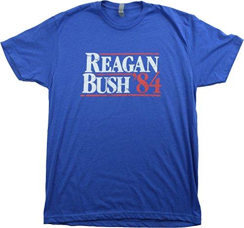 Reagan Bush '84 | Vintage Style Conservative Republican GOP Unisex T-shirt-Adult,L