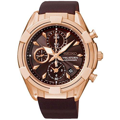 Seiko Damen-Armbanduhr Chronograph Quarz Leder SNDW54P1