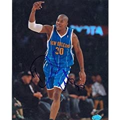 David West Autographed Hand Signed 8x10 Photo (New Orleans Hornets)