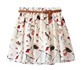 AM CLOTHES Womens Girl Lady Floral Summer Fall Short Princess Skirt