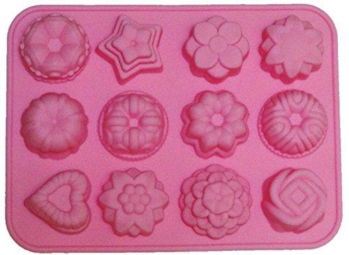 シリコン型 フラワー レジン キャンドル 手作り石鹸に (ピンク)