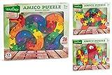 Globo Juguetes globo�-�35780�3�Assorted Legnoland Puzzle de madera con letras o n�meros (Juego)