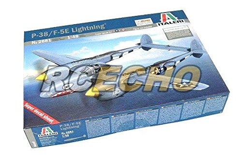 RCECHO-ITALERI-Aircraft-Model-148-P-38-F-5E-Lightning-Scale-Hobby-2681-T2681-with-RCECHO-Full-Version-Apps-Edition