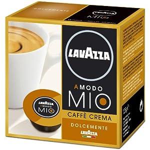 Purchase Lavazza A Modo Mio Caffè Crema Lungo Dolcemente, 16 Capsules - Lavazza