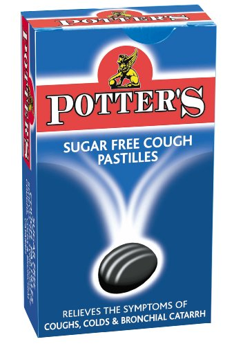 Potters Sugar Free Pastilles Cough Original 45g