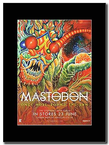 Mastodon, più, quando il sole Magazine Promo su un supporto, colore: nero