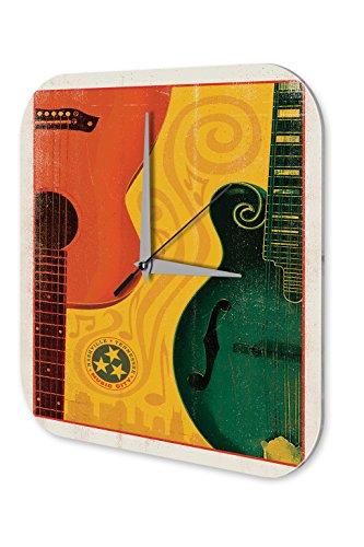 Horloge murale d 39 toile d coration guitare nashville for Decoration murale guitare