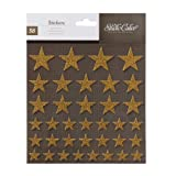 Studio Calico Atlantic Glittered Stars Scrapbook Stickers
