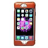 [580] iPhone6S Plus iphone6 plus ケース 本革 栃木レザー HUKURO (オレンジ, 右手持ち)