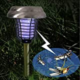 PROMOTION 2Pack Dual LED Solar Mosquito Repeller Sogrand UV Bug Zapper Solar Light Solar Pathway Light Set