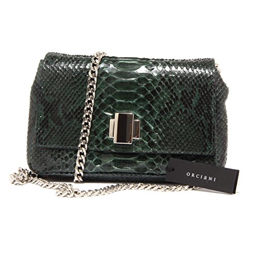 3586Q borsa donna ORCIANI pelle pregiata verde hand made bag woman [Taglia unica]
