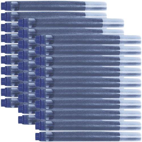 Parker Quink Recharge pour stylo à plume-encre permanente-bleu de 30 Cartouches d'encre (3016031PP)