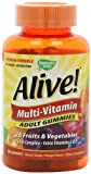 Nature's Way, Alive!, Multi-Vitamin, Adult Gummies, Cherry, Grape, and Orange Flavors, 90 Gummies