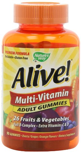 Nature's Way Alive Adult Multi Vitamin Gummies, 90 Count $11.99