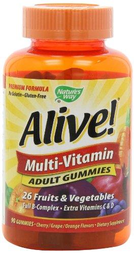 Nature's Way Alive Adult Multi Vitamin Gummies, 90 Count $11.99