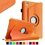 Fintie Samsung Galaxy Tab Pro 8.4 Rotating Case Cover - Vegan Leather 360 Degree Swivel Stand for TabPro 8.4-inch Tablet with Auto Sleep/Wake Feature, Orange
