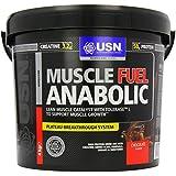 USN Muscle Fuel Anabolic Lean Muscle Gain Shake Powder, Chocolate - 4 kg