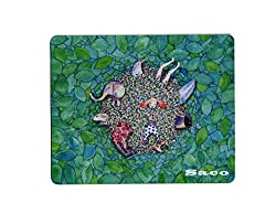 Design Speed Mouse Mat for HP Dell Lenova iball Dragonwar Red Dragon Logitech ibuypower Zebronics Printed Photo Scene Natural Rubber Gaming Mouse Pad Non Slip base - Saco