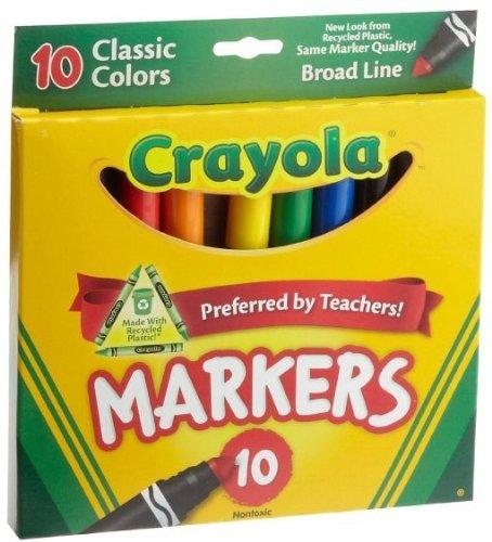 Crayola Classic Markers Broadline 10 Count - 1