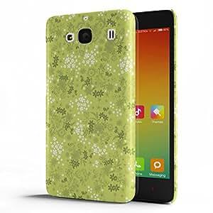 Koveru Designer Protective Back Shell Case Cover for Xiaomi Redmi 2 - Green Printed Pattern