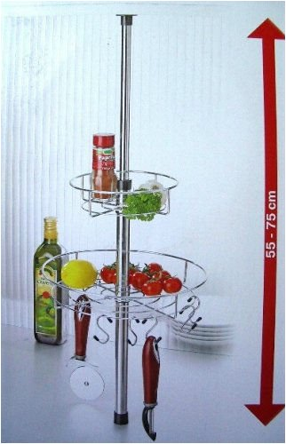Lot de 4 pied de table t lescopique r glable 80 120 cm for Hauteur paillasse cuisine