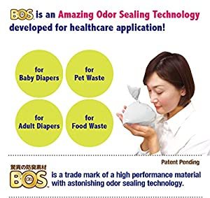 BOS, Amazing Odor-sealing Disposable Bags (90 Bags) [Size:L, Color:White] from BOS-SHOP