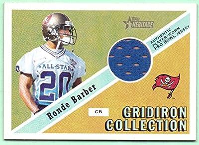 Ronde Barber 2002 Topps Heritage Pro Bowl Worn Jersey #GC-RB - 079/999 - Tampa Bay Buccaneers