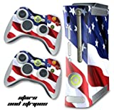 XBOX 360 Console Designer Decal Skin - Stars N Stripes