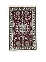 Eden Carpets Alfombra Nain K Burdeos/Beige 88 x 58 cm