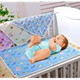 Baby Care Pack Of 3 Plastic Sheet With One Side Cloth Size (22*18 Inches) - B06XVCRGGV