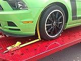 Spanngurt Autotransportgurt Zurrgurt Radsicherung PKW KFZ mit Abriebklötze