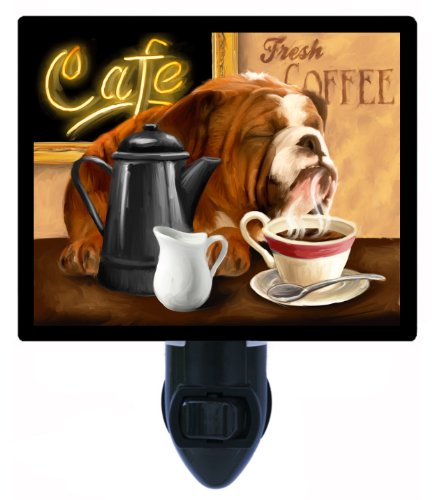 Dog Night Light - Fresh Coffee - Kitchen Bulldog (Bulldog Night Light compare prices)