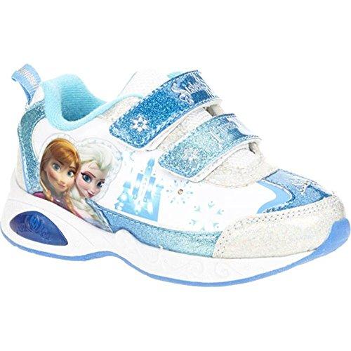 Disney Frozen Sneaker Toddler Girl'S Shoes - Light Up, Blue/White (9) front-1041916
