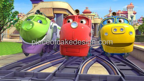 1/8 Sheet ~ Chuggington Group In Front of Station Birthday ~ Edible Image Cake/Cupcake Topper!!!