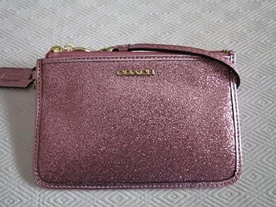 Coach Legacy Glitter Small Wristlet F50374 Pink