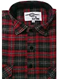 Mens Work Shirts Brushed Cotton Lumberjack Flannel Long Sleeve Check Shirt Woven Material FREE P&P