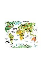 LO+DEMODA Vinilo Decorativo Map Animals