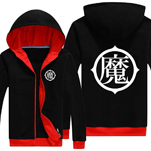 Dragon Ball Z Goku Kame Symbol Zip-Up Adult Hoodie Cosplay Costume, XL