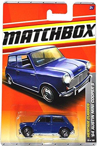 Mattel Year 2010 Matchbox MBX Heritage Classics Series 1:64 Scale Die Cast Car #19 - Navy Blue '64 AUSTIN MINI COOPER S (T8904) (Mini Cooper Car Parts compare prices)