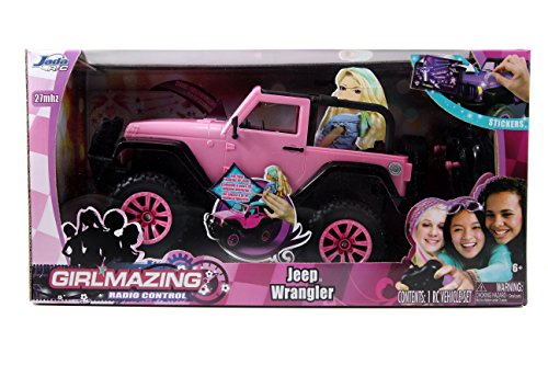 Jada-Toys-GIRLMAZING-Big-Foot-Jeep-RC-Vehicle-116-Scale-Pink
